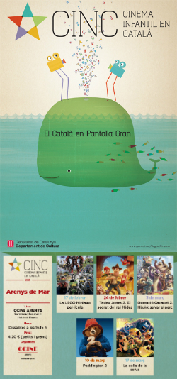 CINC, Cinema Infantil en Català: projeccions a Arenys de Mar