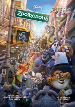 """Projeccions de la pel·lícula """"Zootròpolis"""". Font: gencat.cat/llengua/cinema"""