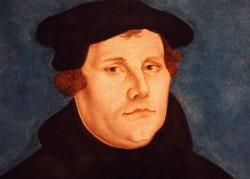 El teòleg alemany Martí Luter (1483-1546) en el retrat de Lucas Cranach el Vell. Font: Viquipèdia