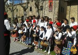 Cantada de caramelles a Vallfogona de Ripollès