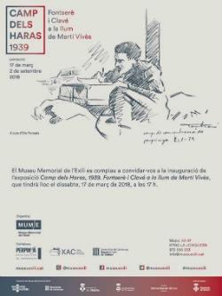 """Exposició """"Camp dels Haras, 1939. Fontserè i Clavé a la llum de Martí Vives"""". Font: Museu Memorial de l'Exili (MUME)"""