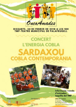 """Concert de cobla i Sardashow """"OncoAmades"""". Font: web de Palafrugell Cultura"""