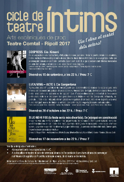"""Cicle de Teatre """"Íntims"""". Font: web de l'Ajuntament de Ripoll"""