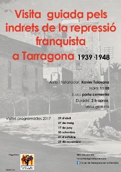 Visites guiades als indrets de la repressió franquista a Tarragona 1939-1948