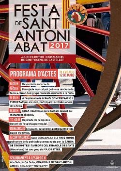 Festa de Sant Antoni Abat a Sant Vicenç de Castellet