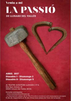 Representació de Veniu a mi. La Passió de Llinars del Vallès