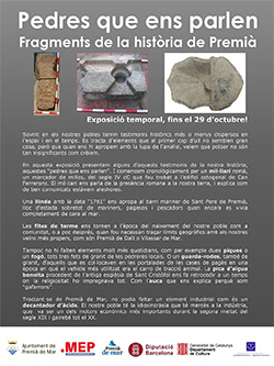 Exposició 'Pedres que ens parlen. Alguns fragments de la història de Premià de Mar'