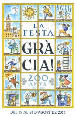 Festa Major 2017 del barri de Gràcia a Barcelona