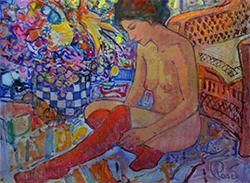 Exposició 'Evocant Emmanuelle' de Joan Raset. Pintura