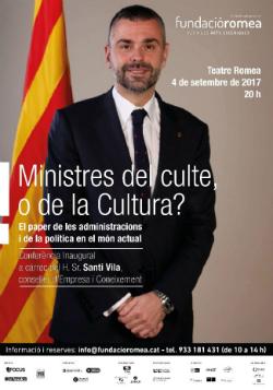 Conferència inaugural de la temporada 2017-2018, Ministres del Culte o de la Cultura