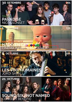 Programació de setembre i octubre al Teatre La Massa