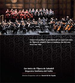 Concert extraordinari de l'Associació d'Amics de l'Òpera de Sabadell