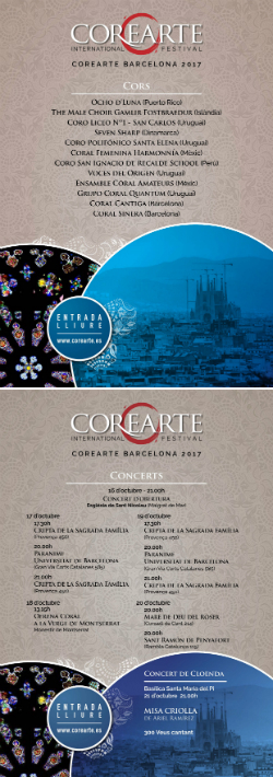 Corearte Barcelona 2017, Festival Internacional de Cors