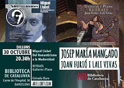 Conferència de Josep Maria Mangado i concert 'Retrats'
