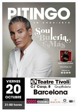 Concert de Pitingo 'Soul, Buleria y Más'