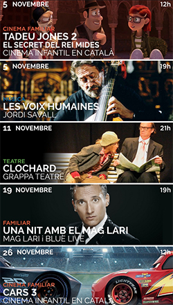 Programació de novembre al Teatre La Massa