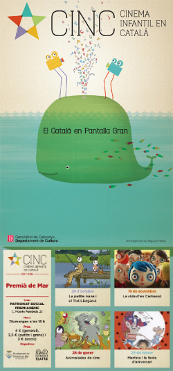 CINC, Cinema Infantil en Català: projeccions a Premià de Mar