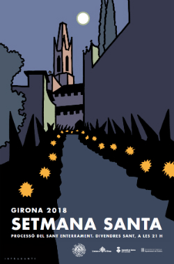 Cartell de la Setmana Santa de Girona 2018 del qual són autors els membres del col·lectiu In Fraganti.  Font: web de l'Ajuntament de Girona