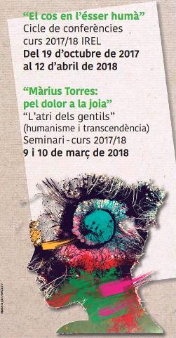 'El cos en l'ésser humàr', cicle de conferències a la Universitat de Lleida (curs 2017-2018)