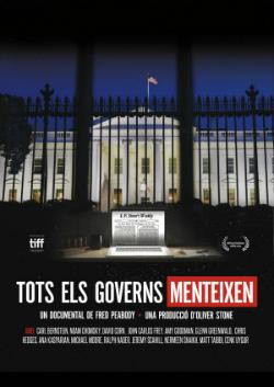 """Projecció del documental """"Tots els governs menteixen"""", de Fred Peabody (2016). Font: web del Documental del mes"""