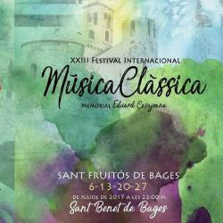XXIII Festival Internacional de Música Clàssica de Sant Fruitós de Bages, Memorial Eduard Casajoana 2017
