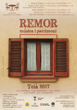 Remor 2017. Concerts a la fresca a Teià