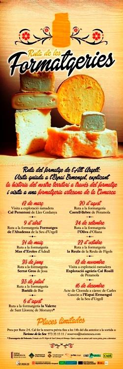 Cicle de visites a formatgeries artesanes de l'Alt Urgell 'Ruta del formatge'