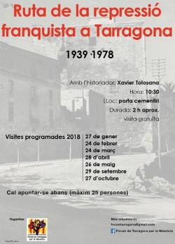 Ruta de la repressió franquista a Tarragona (1939-1978)