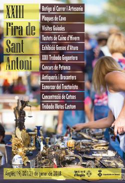 XXIII Fira de Sant Antoni Abat a Anglès. Font: web de l'ajuntament