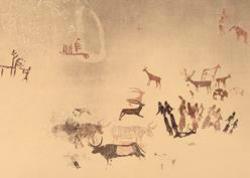 """Exposició """"El conjunt d'art rupestre de la Roca dels Moros (el Cogul, les Garrigues)"""". Font: web dels Museus de Banyoles"""