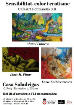 Exposició col·lectiva 'Sensibilitat, color i erotisme. CafeArt Fontanella XII'