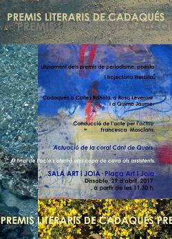 Acte de lliurament dels Premis Literaris de Cadaqués