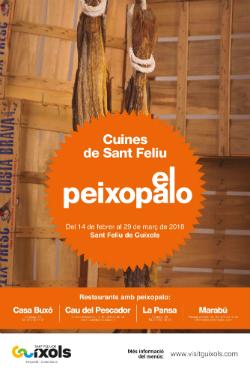 Campanya gastronòmica del Bacallà i del Peixopalo 2018. Font: Ajuntament de Sant Feliu de Guíxols