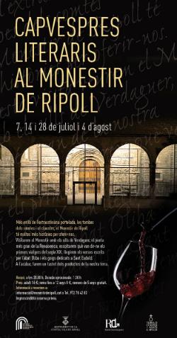 Capvespres literaris al Monestir de Ripoll. Font: Twitter