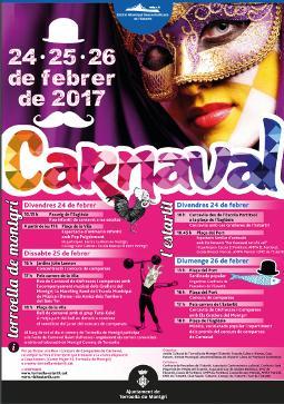 Cartell dels carnavals de Torroella de Montgrí i L'Estartit 2017. Font: web de l'ajuntament
