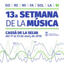 XIII Setmana de la Música de Cassà de la Selva. Font: web de l'Ajuntament