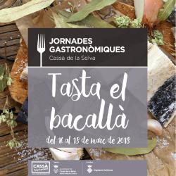 """Jornades gastronòmiques """"Tasta el bacallà"""" a Cassà de la Selva. Font: web de l'Ajuntament"""