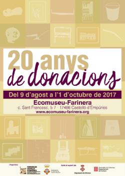 Exposició '20 anys de donacions'