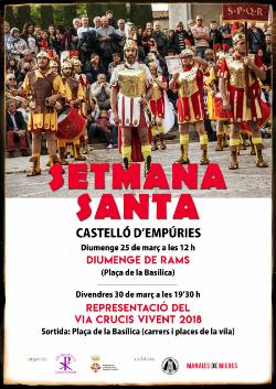 Setmana Santa 2018 a Castelló d'Empúries. Font: web de l'ajuntament