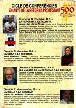 Cicle de conferències '500 anys de reforma protestant'