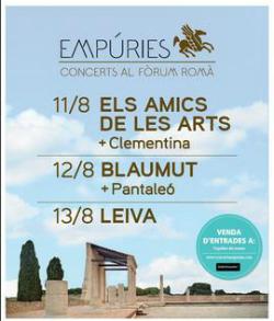 Cicle de concerts al Fòrum Romà d'Empúries 2017