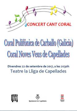 Concert de Coral Noves i la Coral Polifónica de Carballo
