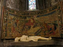 Crist jacent de la Catedral de Girona obra de Domènec Fita. Imatge manllevada del web https://commons.wikimedia.org