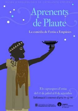 """Visites teatralitzades Aprenents de Plaute. La comèdia de l'estiu a Empúries"""". Font: web del Museu d'Arqueologia de Catalunya-Empúries"""