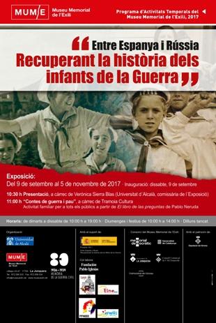 """Exposició """"Entre Espanya i Rússia. Recuperant la història dels infants de la Guerra"""".  Font: Museu Memorial de l'Exili (MUME)"""