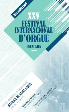 XXV Festival Internacional d'Orgue d'Igualada
