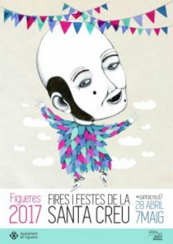 """Fires i Festes de la Santa Creu 2017 a Figueres (cartell de la il·lustradora figuerenca Alba Falgarona que representa el capgròs """"en Berruga""""). Font: web de l'Ajuntament de Figueres"""