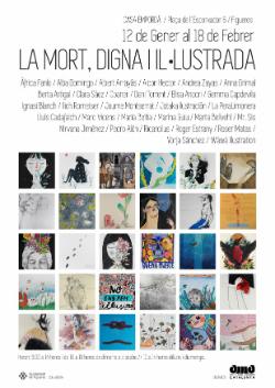 """Exposició col·lectiva """"La mort, digna i il·lustrada"""". Font: web de Turisme de Figueres"""