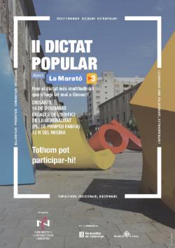 II Dictat Popular a Girona pro Marató de TV3. Imatge manllevada del web http://llengua.gencat.cat