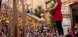 Celebració de la diada de Sant Jordi amb el Museu d'Art de Girona. Font: Museu d'Art de Girona
